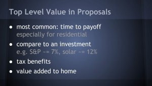 slide - top value in proposals